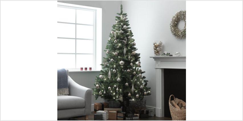 Argos Home 7ft Pre-Lit Christmas Tree - Green from Argos