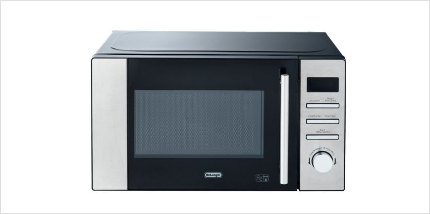 De'Longhi 800W Standard Microwave AM82 - Stainless Steel from Argos