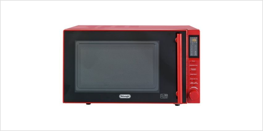 De'Longhi 900W Standard Microwave P90D Easi-Tronic  - Red from Argos