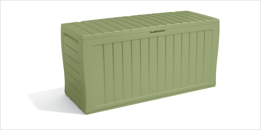 Keter Marvel Plus Garden Storage box 270L - Sage from Argos