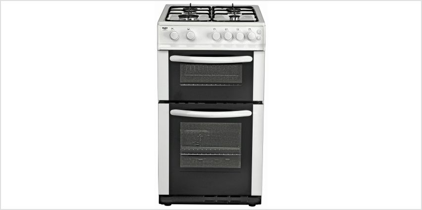 Bush AG56TW 50cm Twin Cavity Gas Cooker - White from Argos