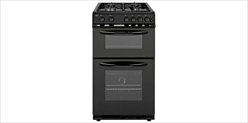 Bush AG56TB 50cm Twin Cavity Gas Cooker - Black from Argos