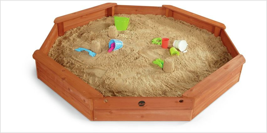Plum Giant Wooden Sand Pit. from Argos