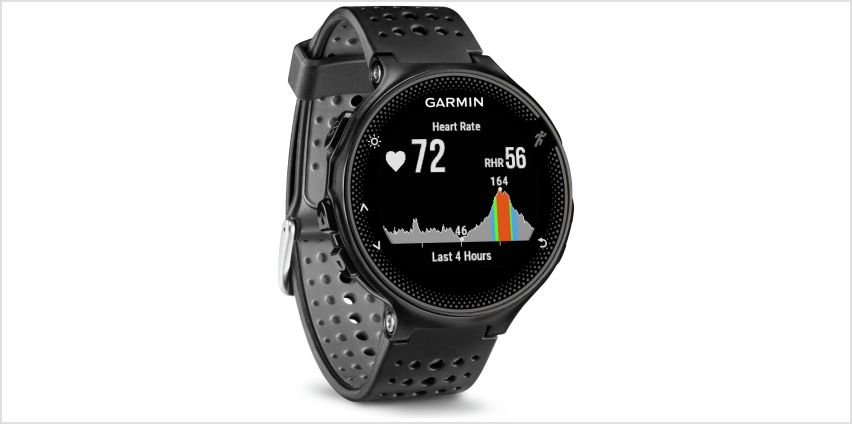Garmin Forerunner 235 GPS HR Running Watch - Black/Grey from Argos