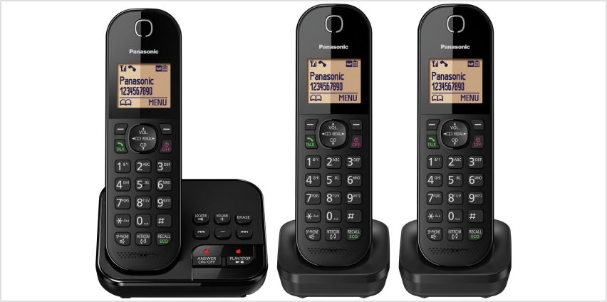 Panasonic Cordless Telephone with Answer Machine - Triple from Argos