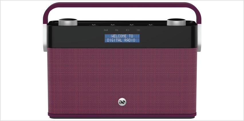 Acoustic Solutions DAB Radio - Plum from Argos