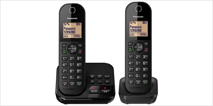 Panasonic Cordless Telephone with Answer Machine - Twin from Argos