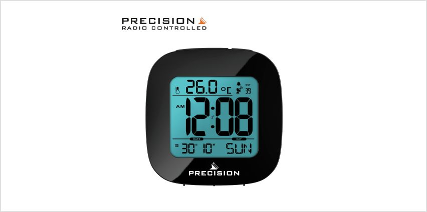 Precision Radio Controlled LCD Alarm Clock from Argos