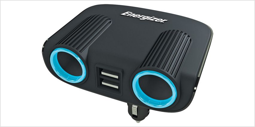 Energizer 12V Twin Socket and Twin USB Adapter. from Argos
