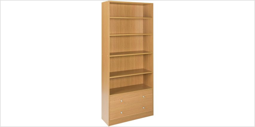 Argos Home Maine 4 Shelf 2 Drw Bookcase from Argos