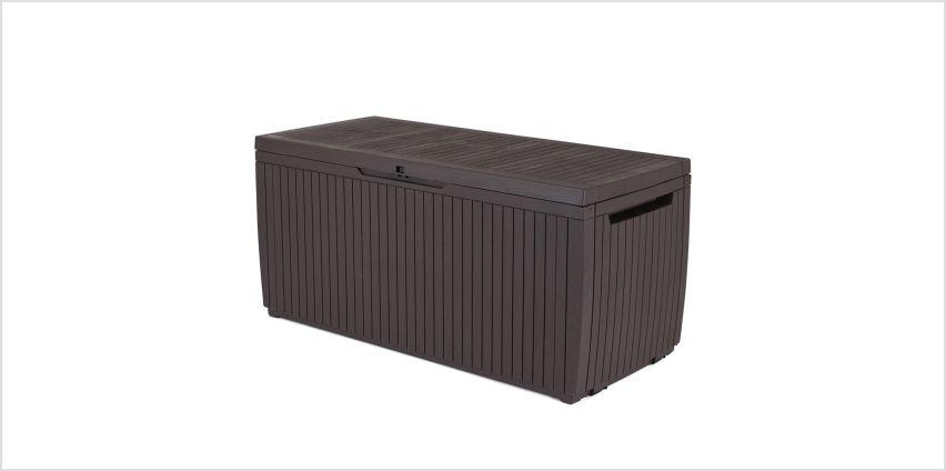 Keter Springwood 305L Garden Storage Box - Brown from Argos