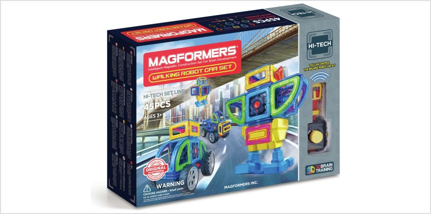 Magformers Walking Robot Car Construction Set - 45 Piece from Argos