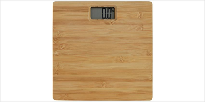Argos Home Bamboo Digital Bathroom Scales from Argos