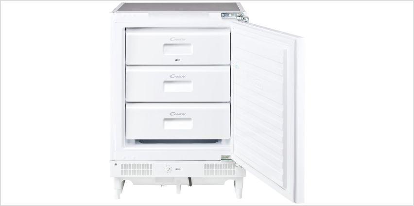 Candy CFU130EK Integrated Under Counter Freezer - White from Argos