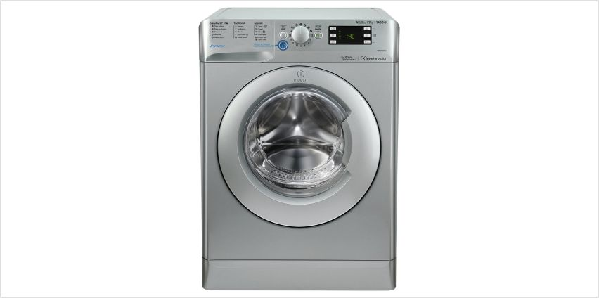 Indesit BWE91484X 9KG 1400 Spin Washing Machine - Silver from Argos