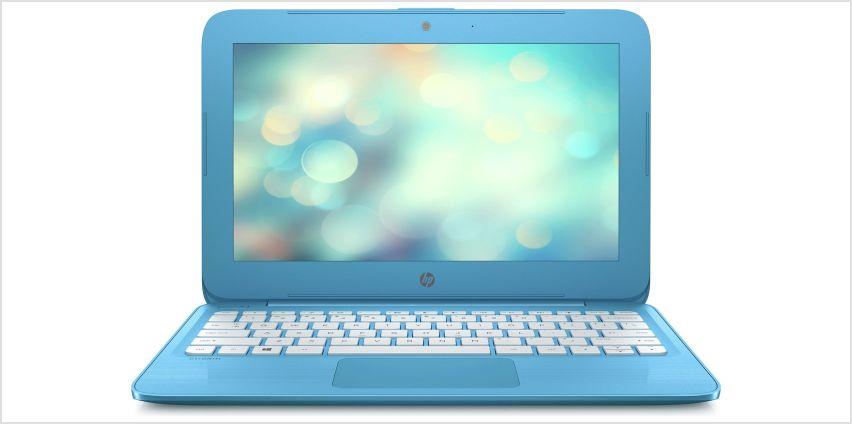 HP Stream 11.6 Inch Celeron 2GB 32GB Cloudbook - Blue from Argos