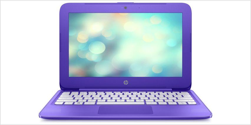 HP Stream 11.6 Inch Celeron 2GB 32GB Cloudbook - Purple from Argos