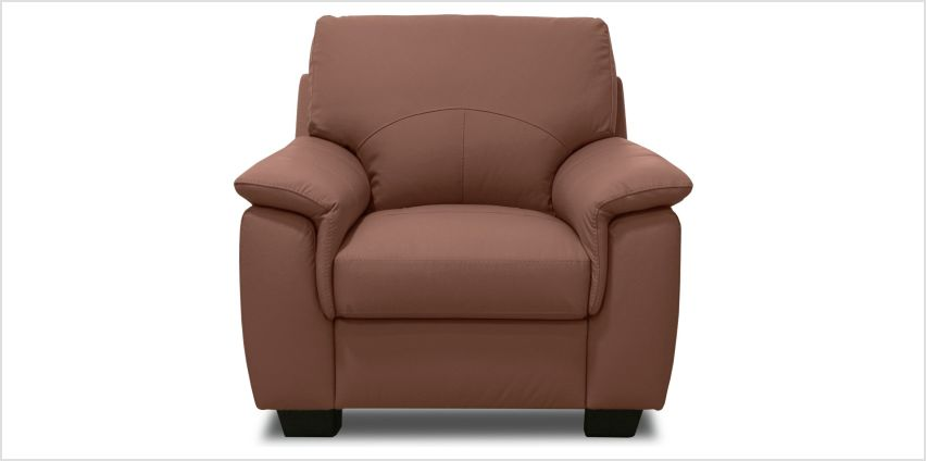 Argos Home Lukah Leather / Leather Effect Chair - Tan from Argos