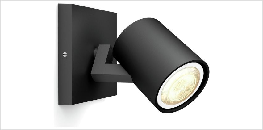 Philips Hue White Ambience Runner LED Spot w/ Dimmer - Black from Argos