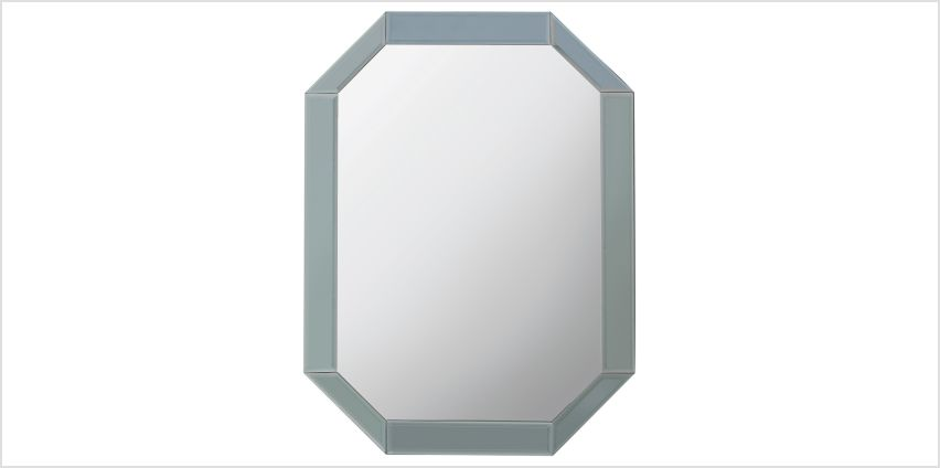 Argos Home Stonehaven Octagonal Bevelled Mirror - Grey from Argos