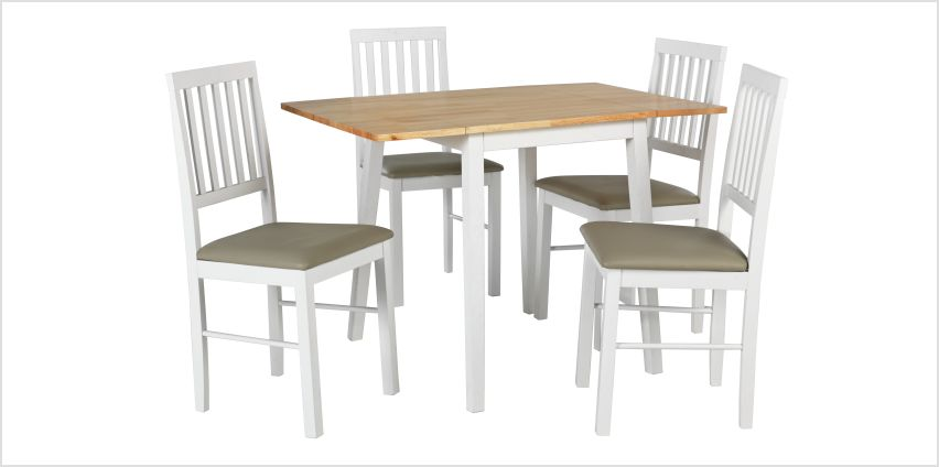 Argos Home Kendal Large Extending Table & 4 Chairs -Two Tone from Argos