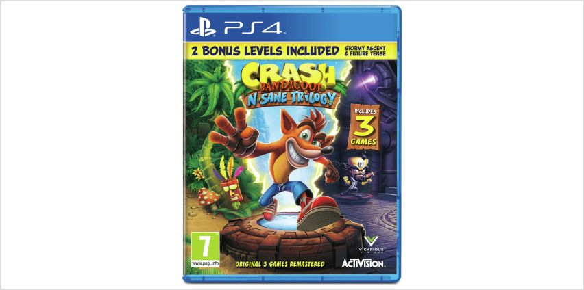Crash Bandicoot N.Sane Trilogy PS4 Game from Argos