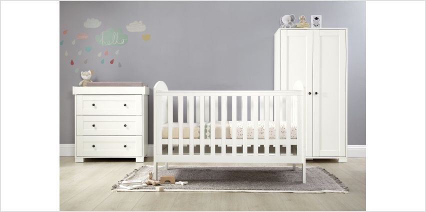Mamas & Papas Harrow 3 Piece Set Furniture Set - White from Argos