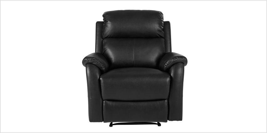 Argos Home Tyler Manual Recliner Chair - Black from Argos