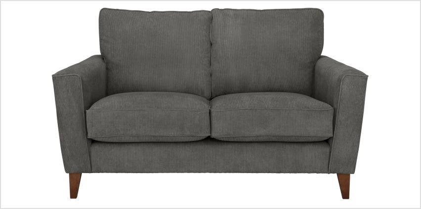 Argos Home Berlin 2 Seater Fabric Sofa - Charcoal from Argos