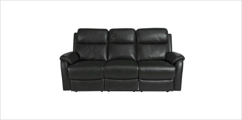 Argos Home Tyler 3 Seater Recliner Sofa - Black from Argos