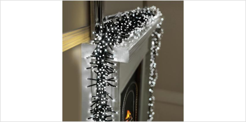 Premier Decorations 10m 2000 LED Multi Cluster Lights -White from Argos