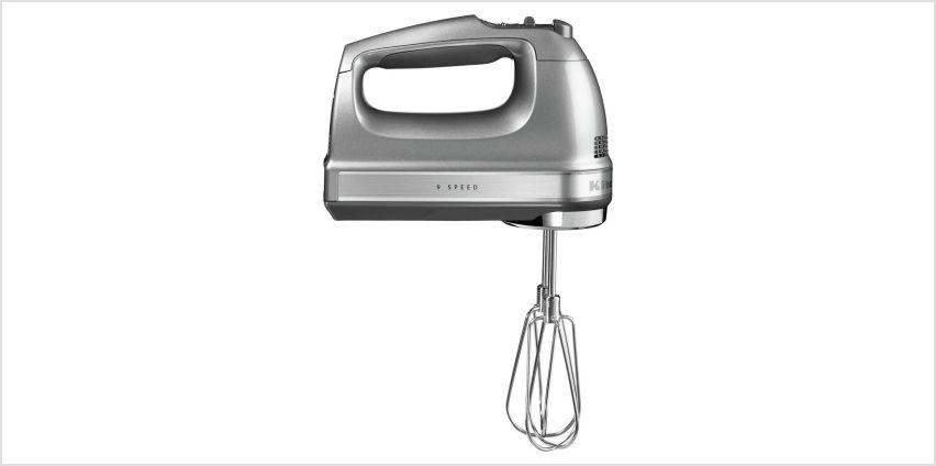 KitchenAid 5KHM9212BCU Hand Mixer - Contour Silver from Argos
