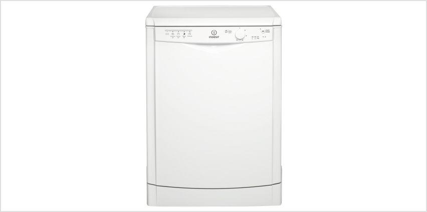 Indesit DFG15B1 Full Size Dishwasher - White from Argos