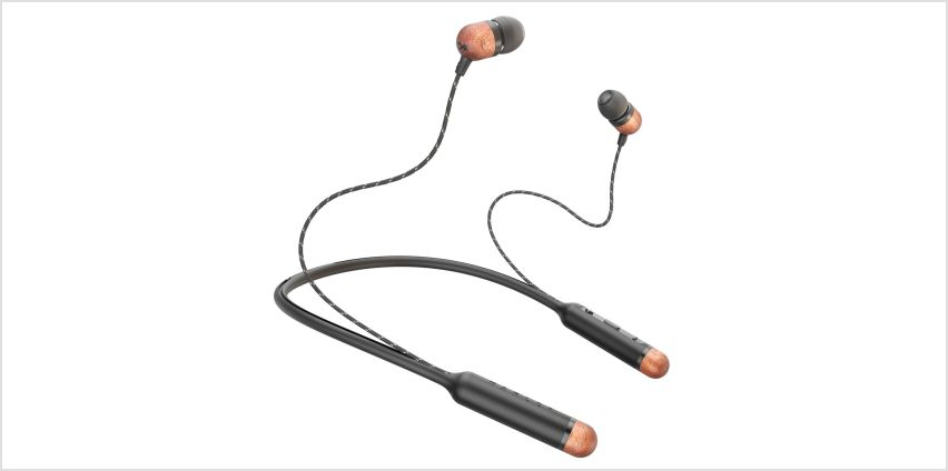 Marley Smile Jamaica In-Ear Wireless Headphones - Black from Argos
