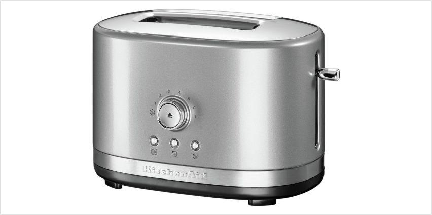 KitchenAid Manual Control 2 Slice Toaster - Contour Silver from Argos