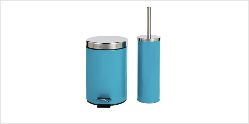 Argos Home Slow Close Bin and Toilet Brush Set - Teal from Argos