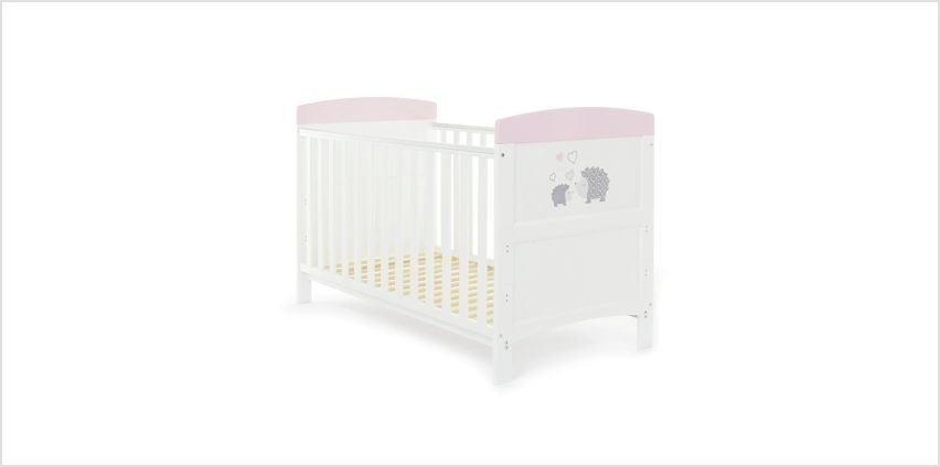 Obaby Hedgehog Baby Cot Bed - Pink from Argos