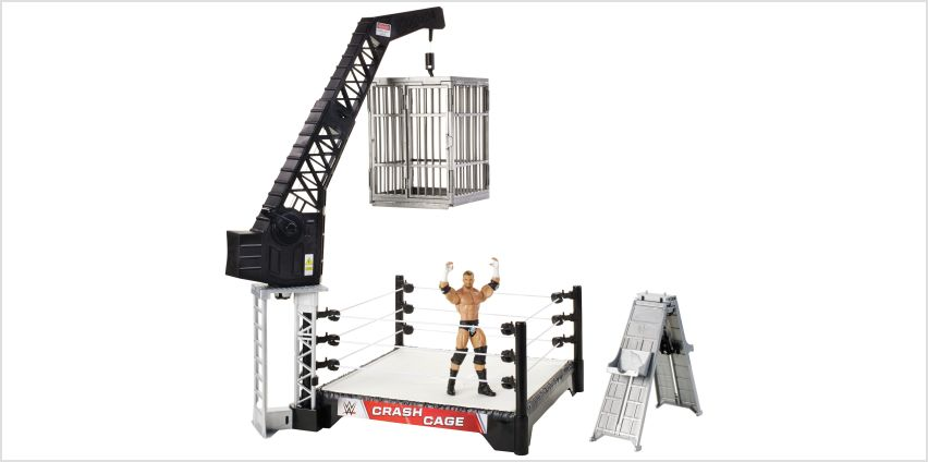 WWE Crash Cage Playset with Figure from Argos