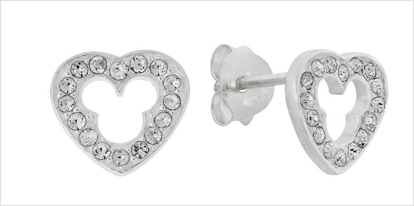 Disney Micky Sterling Silver Cubic Zirconia Stud Earrings from Argos