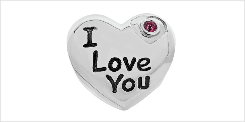 Moon & Back Sterling Silver 'I Love You' Cubic Zirconia Bead from Argos