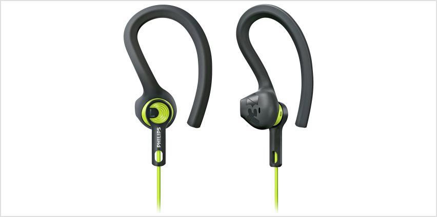 Philips SHQ1400 ActionFit Wired In-Ear Headphones - Green from Argos
