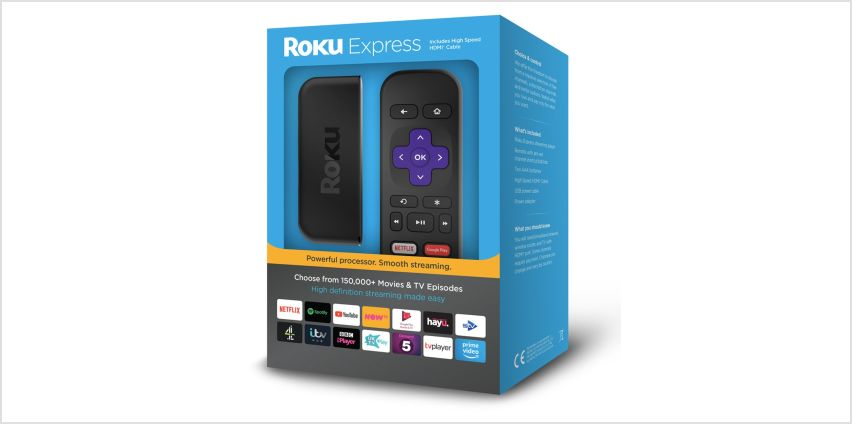 Roku Express 2017 HD Streaming Media Player from Argos