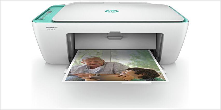 HP DeskJet 2632 Wireless Printer & 4 Months Instant Ink from Argos