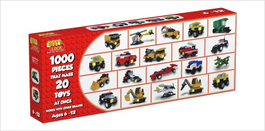 Best-Lock Construction Toys 20 Model Pack - 1000 Pieces from Argos