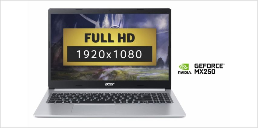 Acer Aspire 5 15.6in i7 8GB 1TB SSD FHD MX250 Laptop -Silver from Argos