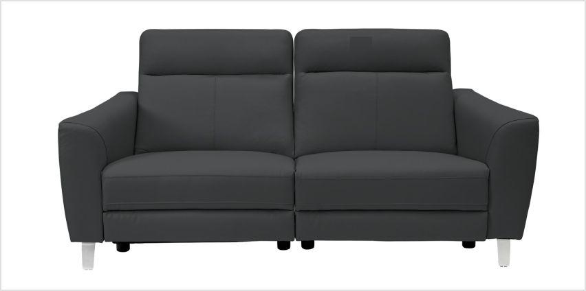 Argos Home Wyatt 3 Seater Leather Power Recliner Sofa -Black from Argos