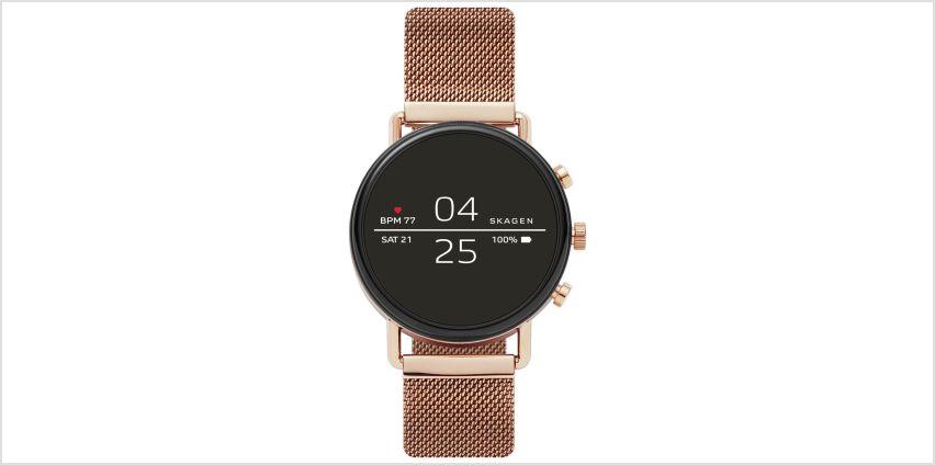 Skagen Falster 2 HR Smart Watch - Rose Gold from Argos