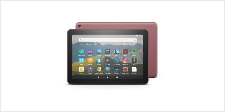 Amazon Fire HD 8 Inch 64GB Tablet - Plum from Argos