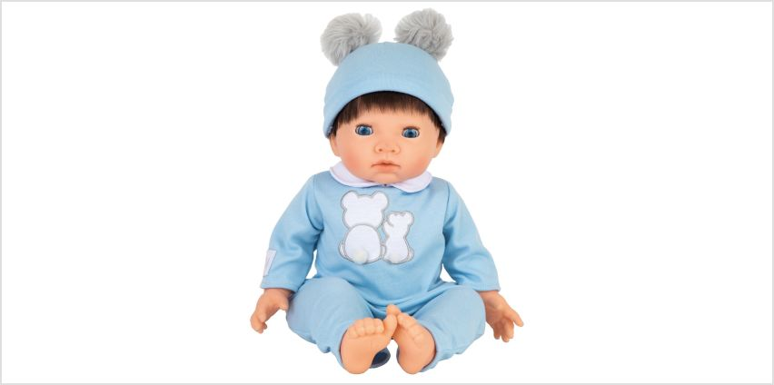 Tiny Treasures Doll with Blue Outfit from Argos