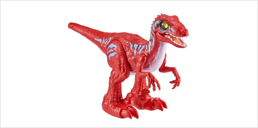 Robo Alive Rampaging Raptor Dinosaur Toy - Red from Argos